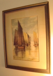 Antique print bought at Cottage Antiques in Ellicott City, Maryland.