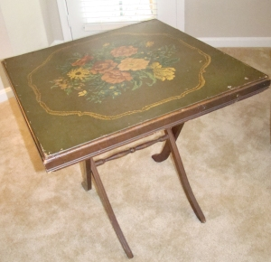 Antique TV tray / card table