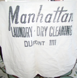 Vintage Manhattan Laundry Bag - Dupont 1111.