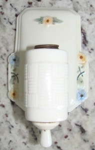 Vintage Porcelain Wall Sconce After a Cleaning