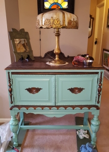 $15 Antique Buffet Facelift in Action - Options 1-13