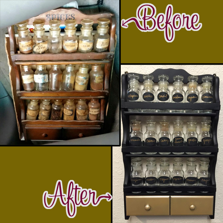 JM Spice Rack before and after