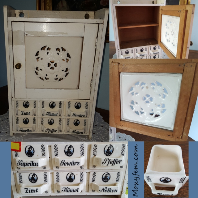 German Spice Cabinet with Porcelain tile and six drawers