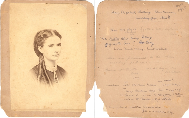 Mary Elizabeth Billings Blackman wedding photo