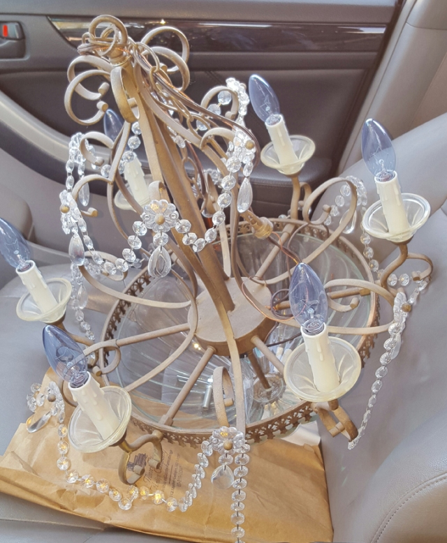 Pretty Purple Princess Chandelier