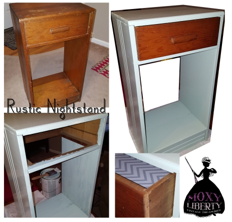 Rustic Nightstand by Moxy Liberty